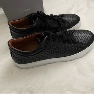 Avery Embossed Leather Sneaker